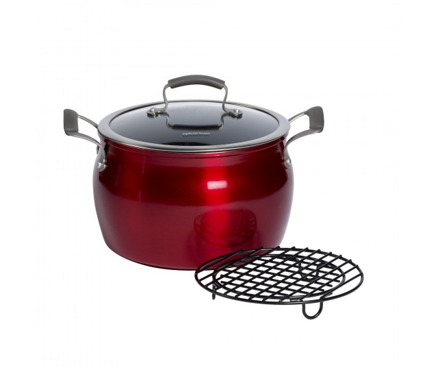 8 Quart Covered Stock Pot With Meat Rack